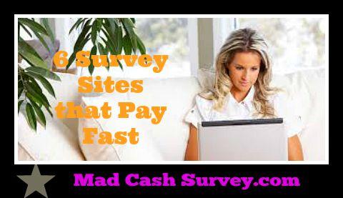 Surveys that pay fast cash